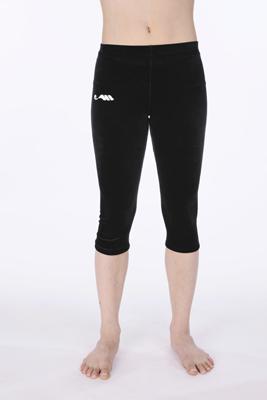 Legging 3/4 velours zwart