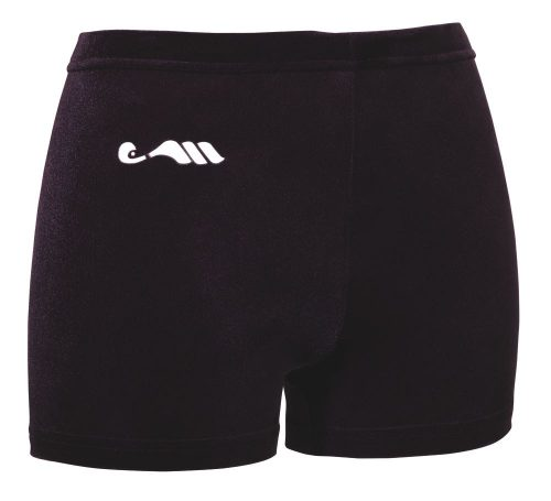 Mini-short ras velours Zwart