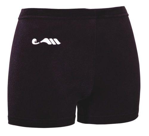 Mini-short ras velours Zwart