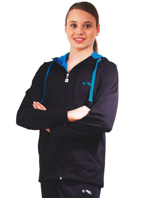 Assymetric hooded unisex jacket